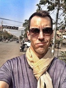 Me wearing a traditional Khmer scarf (#scarfie)