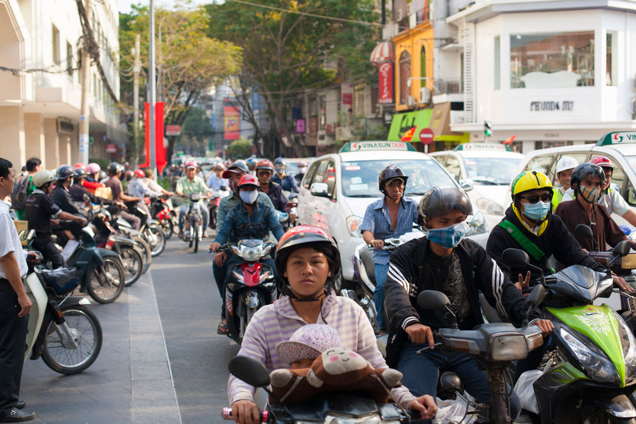 Scooters in Ho Chi Minh City