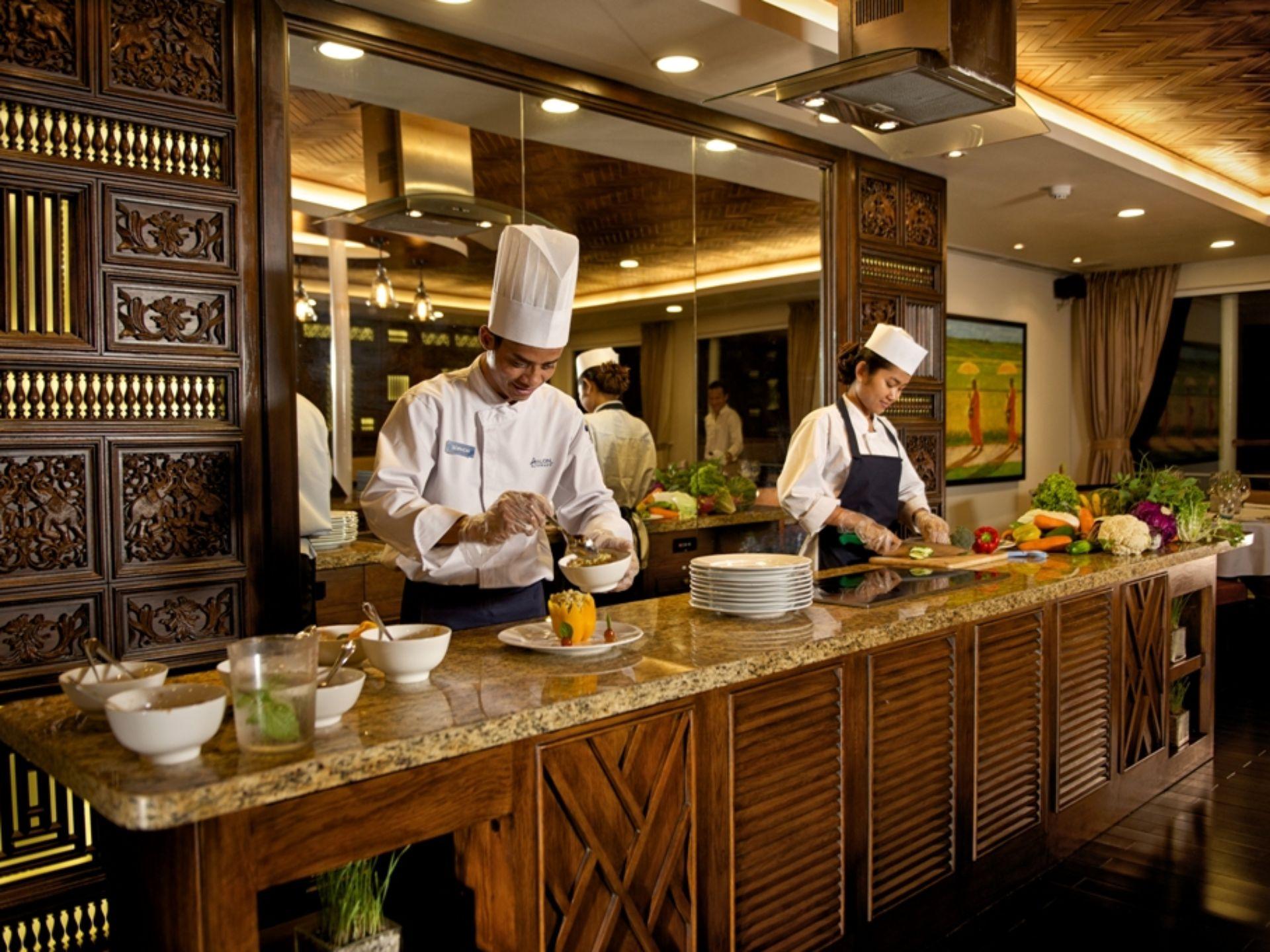 Chefs aboard Avalon Siem Reap