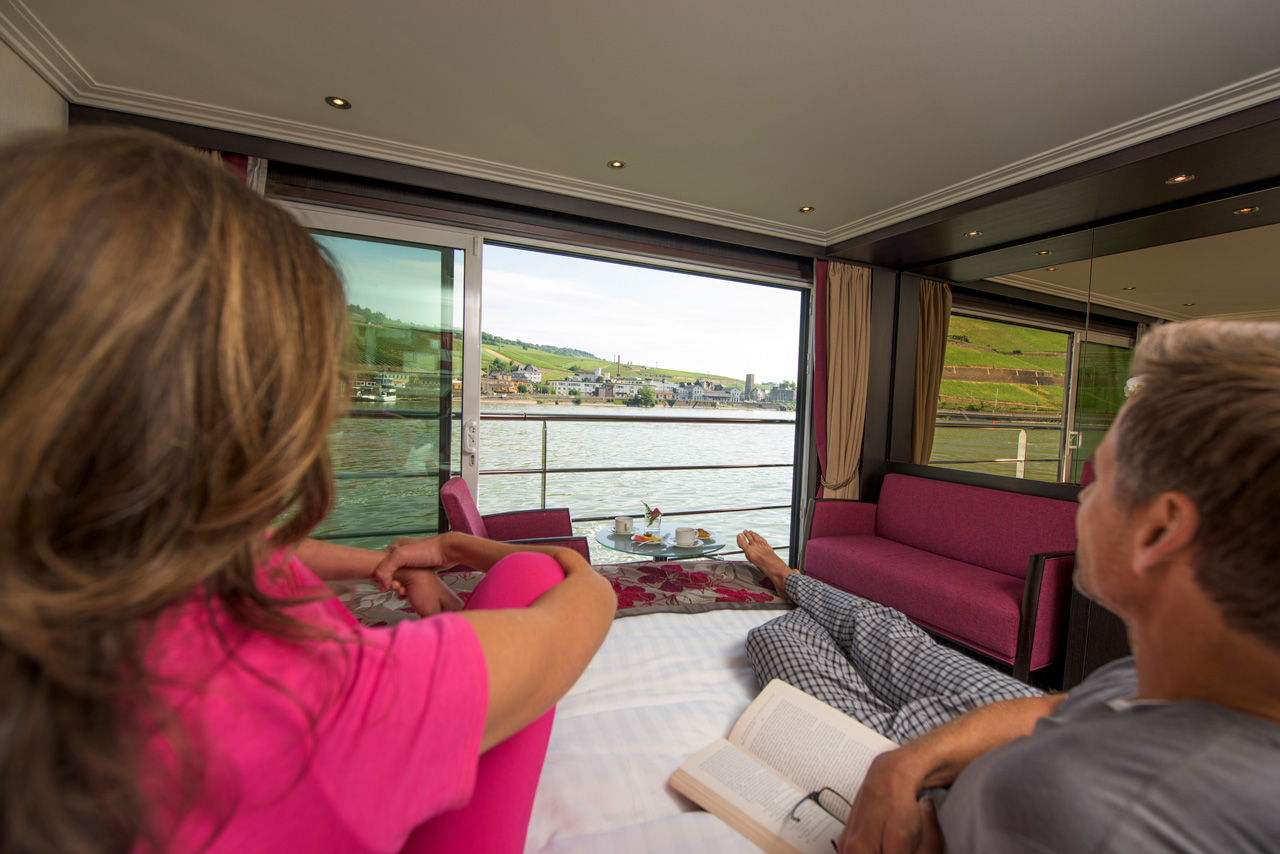 Make sure to bring comfy pajamas for when you are enjoying the view from your bed!