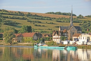 Les Andelys; France; Seine River; town; architecture; hill;